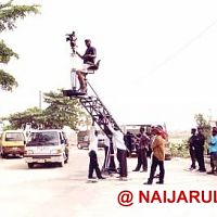 DOP Joe Gbemuotor up in the air.