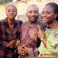 From left, Uche, Wale Macaulay and Fatima