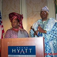 Hosts at the New York launch of AIT in America.
