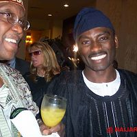 Olusesan Ekisola and Dayo Adeneye (D-One) at the New York launch of AIT in America.