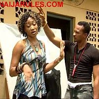 "OGE OKOYE getting the ""bug off"" marching order from CHIGOZIE ATUANYA in,'WAR GAMES'."