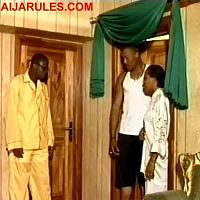 "MUYIWA ADEMOLA,HANK ANUKU and FAITHIA BALOGUN in the hilarious scene in,""EDIDI""."