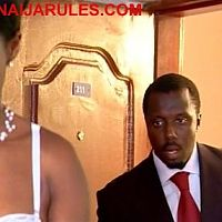 """FEMI BRAINARD barging in on not so naked STEPHANIE OKEREKE(out of the shot),in """"BE 4 THE VOW""""."""