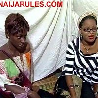 TOYIN AIMAKHU(right of screen) and friend(name of actress unknown)seeking for spiritual help in 'OYINADE'.