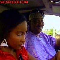 "DORIS SIMEON getting a not-so-free lift from the randy ADE EKETUNDE(Femi Bright?)in,""AIYE OMIDAN""."