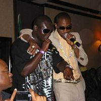 NRC '07 @ D-Town. D'banj and Wandicool (I think that's his name, but the guy dey blow like bird -watch out for him)