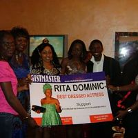Rita Dominic's party @ swe bar for winning the best dressed actress on gistmaster.
