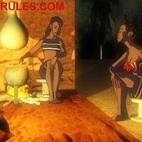 """Screen shots from the second episode of the animated series """"Mark of Uru"""""""
