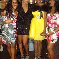 Susan Peters and Rukky Sanda with fans