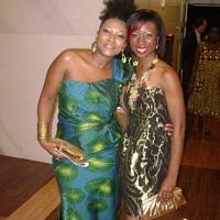 Ebbe Bassey and singer Tolumide at the Kennedy Ctr premiere of Doctor Bello